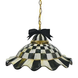 Mackenzie-Childs Courtly Check Fluted Hanging Lamp