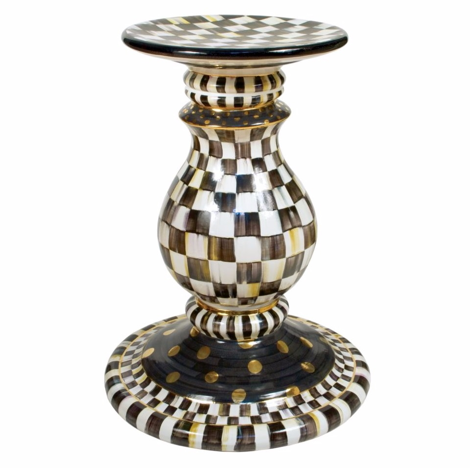 Mackenzie Childs Pedestal Table Courtly Check 14010 040