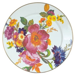 MacKenzie-Childs FLOWER MARKET CHARGER  WHITE