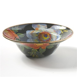 MacKenzie-Childs FLOWER MARKET BREAKFAST BOWL  BLACK