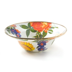 MacKenzie-Childs FLOWER MARKET BREAKFAST BOWL  WHITE