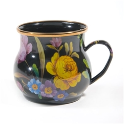 Mackenzie-Childs Flower Market Mug Black