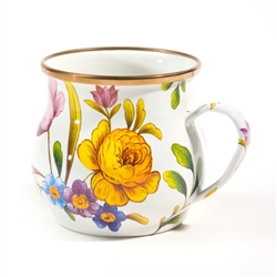 Mackenzie-Childs Flower Market Mug White