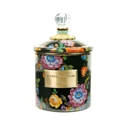 MacKenzie-Childs Flower Market Small Canister Black