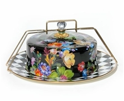 Mackenzie-Childs Flower Market Cake Carrier Black