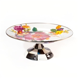 Mackenzie-Childs Flower Market Small Pedestal Platter