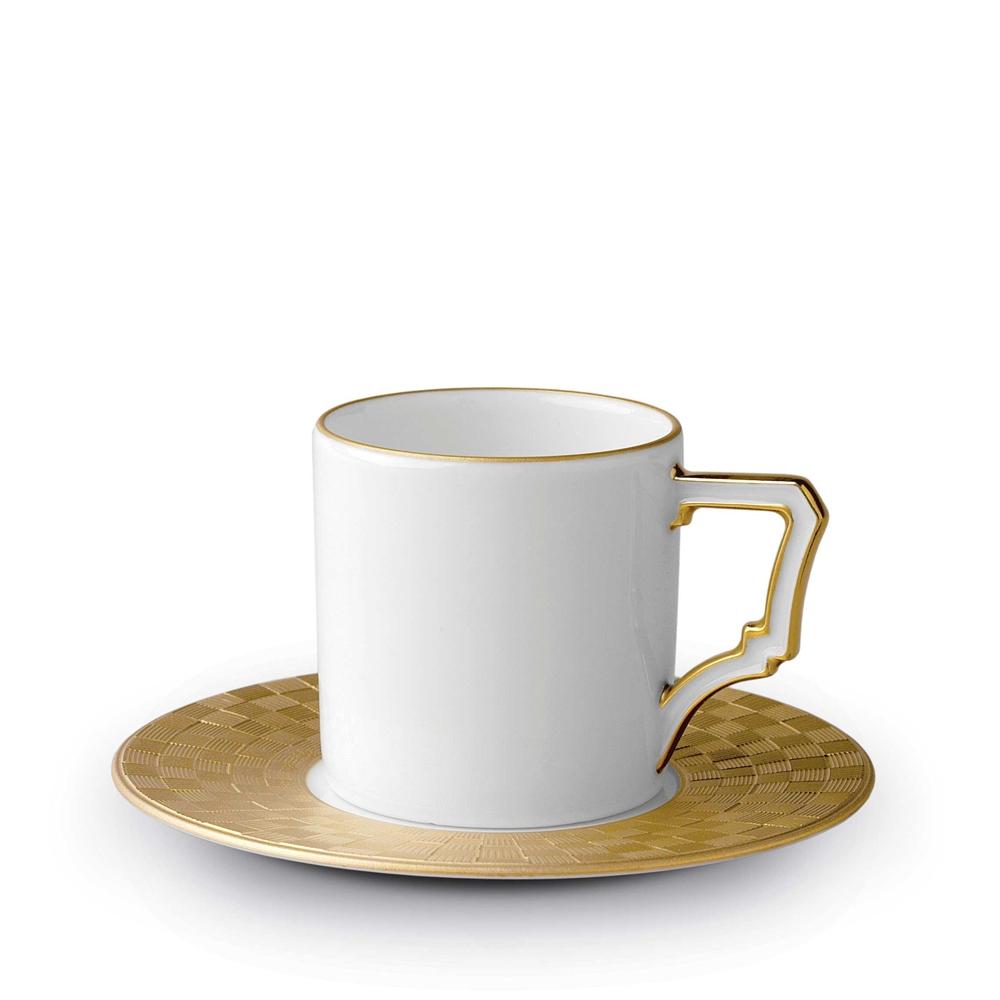 L'Objet Byzanteum Gold Espresso Cup & Saucer