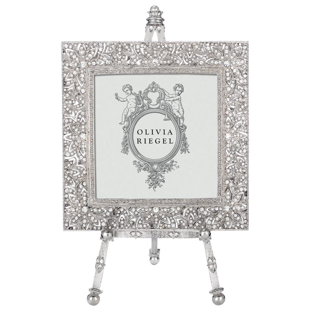 5x5 ODYSSEY SILVER Austrian Crystal 5x5 frame by Olivia Riegel