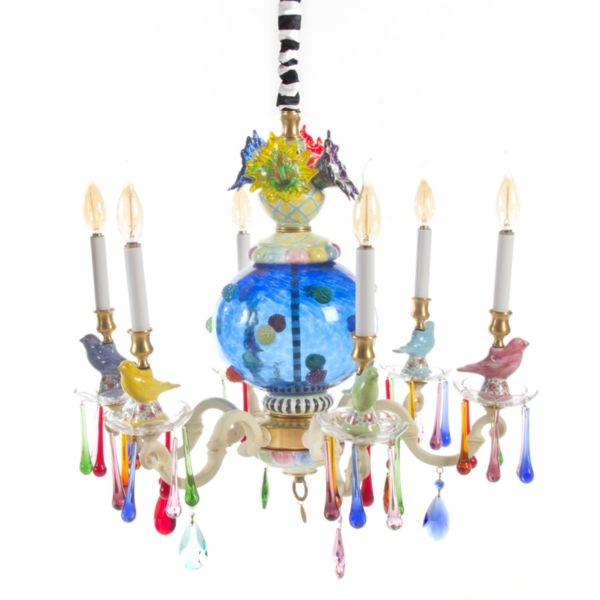 colorful chandelier lighting. Perfect Chandelier MacKenzieChilds Merrfield Chandelier  Small With Colorful Lighting U