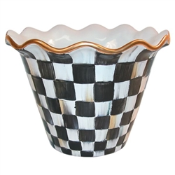 "Mackenzie-Childs 8"" Flower Pot Courtly Check"